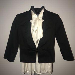 Express Black Tuxedo Suit Jacket